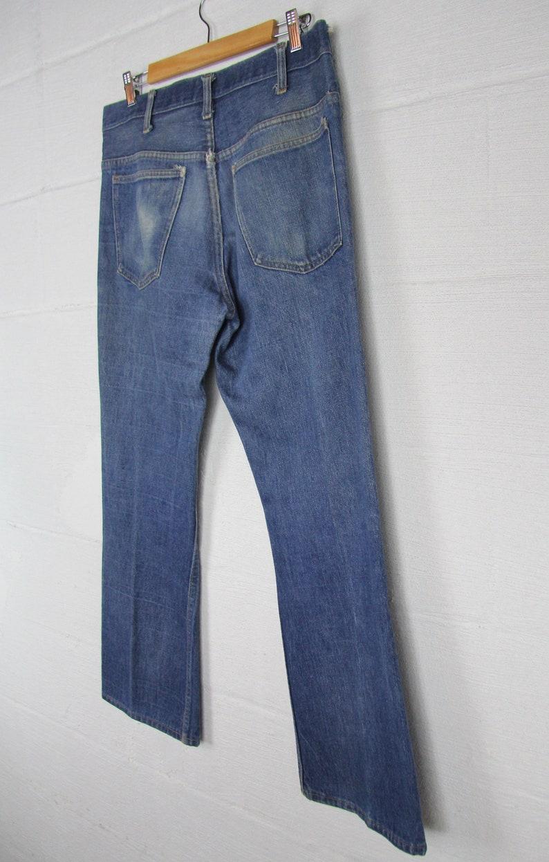 8faf2afc9763f Men s 70 s Boot Cut Denim Jeans JC Penny 35 Large