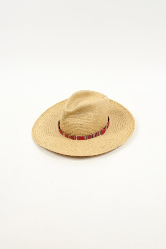 Quaker Marine Supply Vintage Straw Hat Vintage Size Large Made in USA