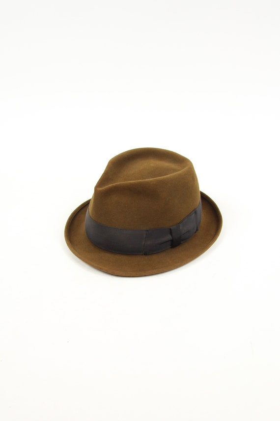 Brown Men's Fedora made by Adam Vintage Size Large 7 3/8""