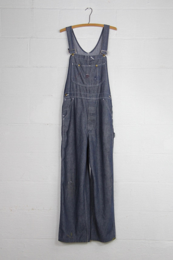 cd85c541f75 Men s Sears Vintage Distressed Faded Dark Wash Sears