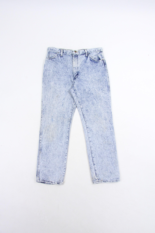 Acid Wash Rustler Jeans Men S Pants Vintage Size 35x30 5 Regular fit, sits at natural waist, front and back pockets, belt loops, made of cotton. hillpeople