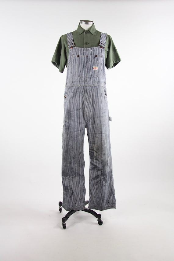 Pay Day Vintage Pinstriped Overalls Penney's 50s M