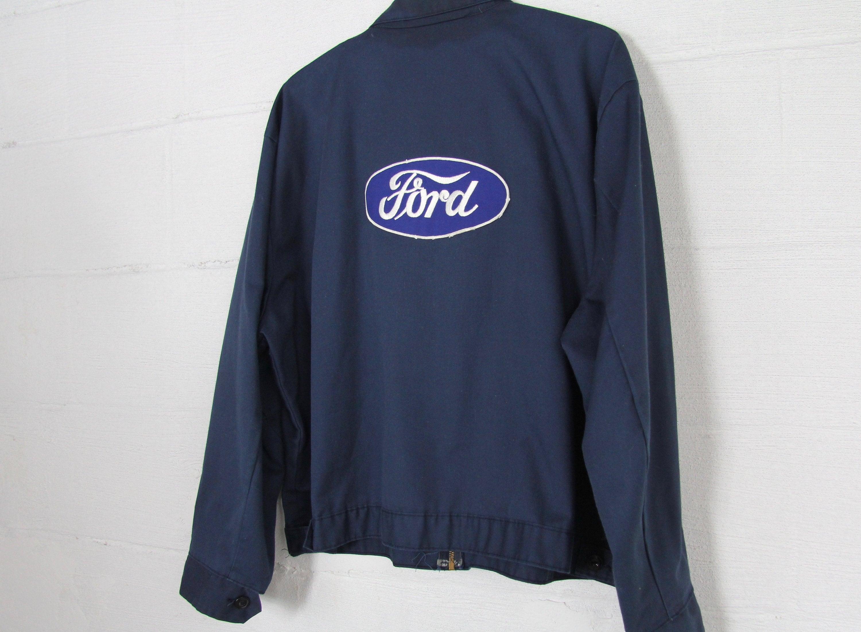 ORIGINAL Vintage Ford Work Coat Mechanic Jacket Size L