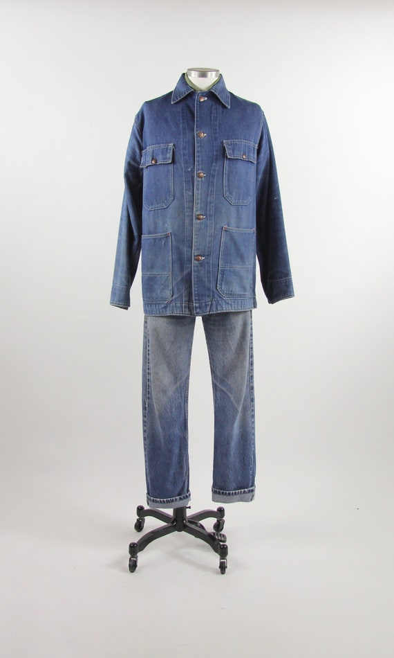 Denim Chore Coat Men's JC Penney Big Mac Vintage J