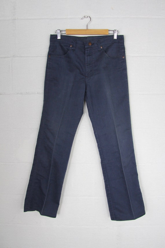 Men's Sears 70's Jeans Faded Dark Blue Cotton Work