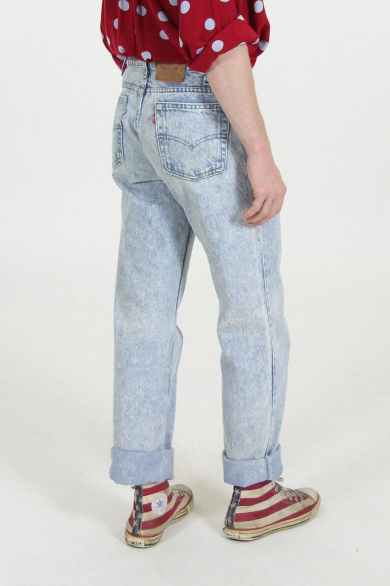 89e4f49c Vintage Levi's 505 Acid Wash High Waisted Blue Jeans 31 x | Etsy