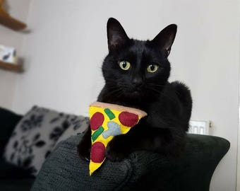 Felt Catnip Cat Toy Pizza Slice