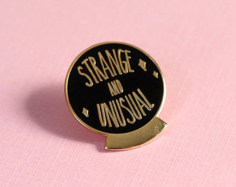 NEW! Strange and Unusual Lydia Deetz Beetlejuice Hard Enamel Gold Black Cloisonne Lapel Pin Goth Horror 1""