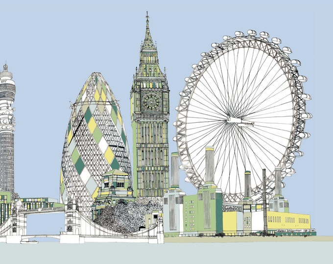 Limited Edition Giclee Print - London.