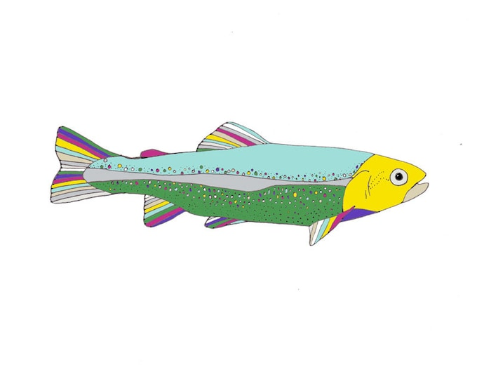 Limited Edition Giclee Print - Rainbow Trout.