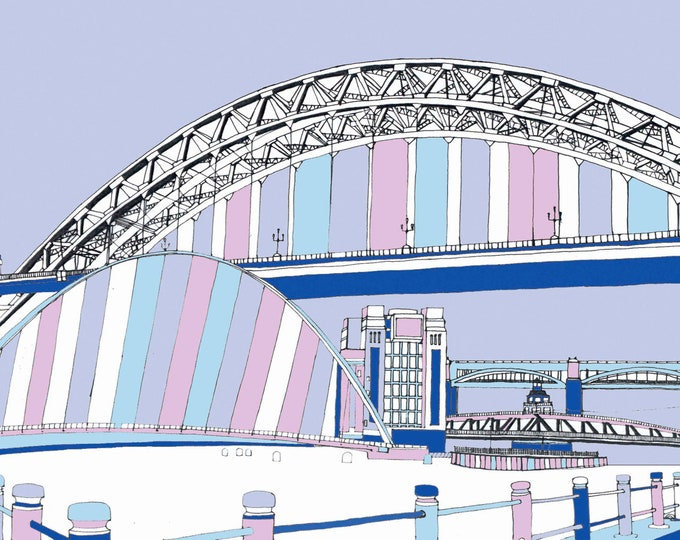 Limited Edition Giclee Print - Bridges of the Tyne and Baltic, Gateshead and Newcastle.