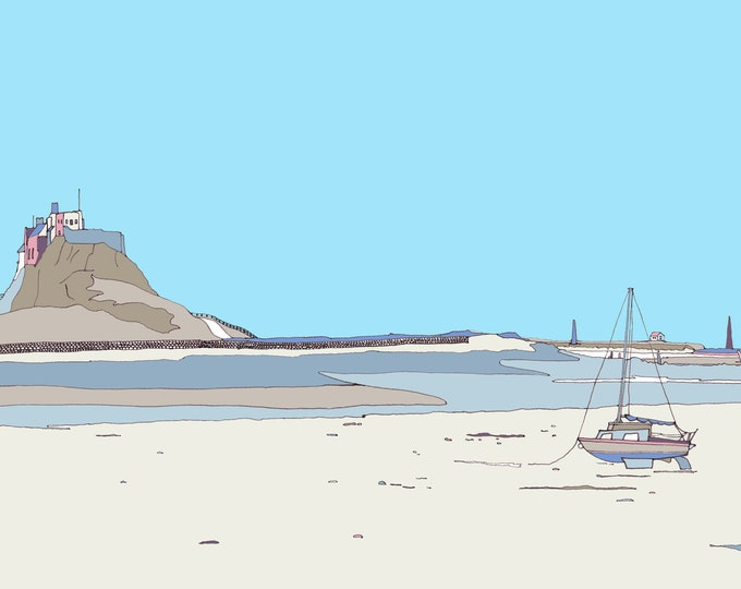 Limited Edition Giclee Print - Holy Island.