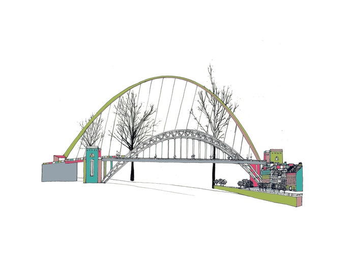 Limited Edition Giclee Print - Tyne & Millennium Bridge, Newcastle and Gateshead.