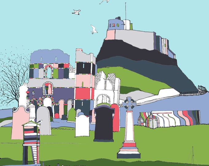 Lindisfarne II - limited edition print Giclee print / 2 SIZES.