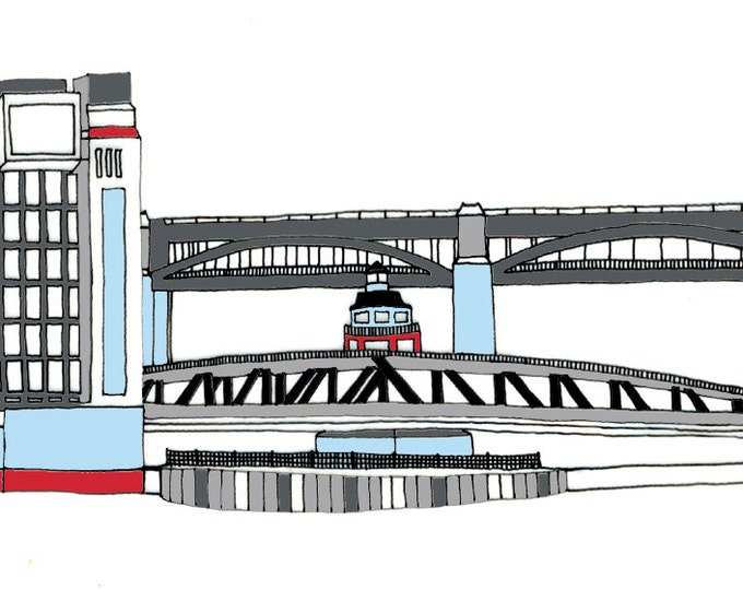 Limited Edition Giclee Print - Bridges and Baltic, Gateshead and Newcastle.