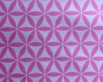 Geometric Pink by Jules and Coco/Two Tone Cotton Quilting Sewing Craft Fabric/HALF Yard Pricing
