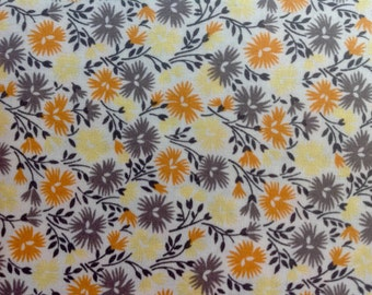 Yellow Gold Grey Floral by Richloom Fabrics/Cotton Quilting Sewing Craft Fabric/HALF Yard Pricing