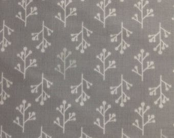 Posy and Vine by Olive and Piper/Twig/Floral/ Grey and White Premium Quilting Sewing Craft Fabric/HALF YARD Pricing