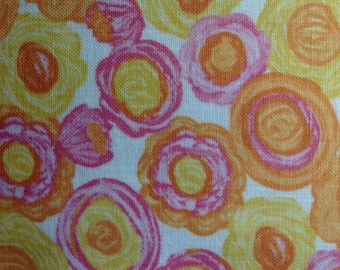 Yellow Flowers by Jules and Coco Fabrics/Cotton Quilting/Sewing Craft Fabric/HALF Yard Pricing