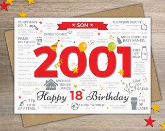 Happy 18th Birthday SON Greetings Card