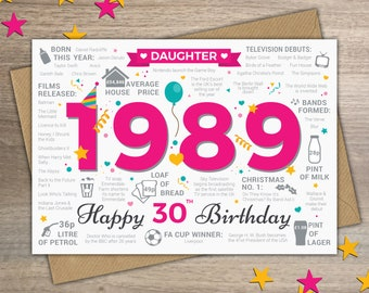 Happy 30th Birthday DAUGHTER Greetings Card