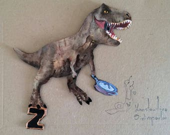 Fossil reptile of the Mesozoic era letter magnet!