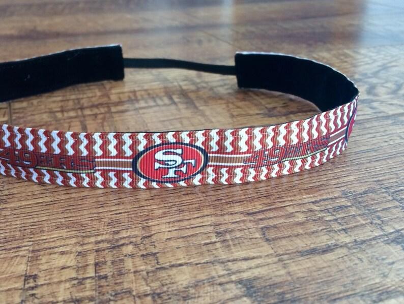 9132fb5e San Francisco 49ers headband. 49ers headband. San Francisco 49ers. Gifts  for 49er's fans. Girl's 49er's. Women's 49er's. 49ers sweaty band