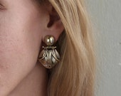 Gold Emma Articulated Earrings made in bronze feat. sterling silver ear posts
