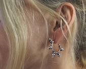 Tamara Gold or silver hoop tribal earrings-sterling silver ear post