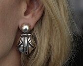 Silver Emma Articulated Earrings made in solid sterling silver