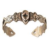 Eris bracelet - Aztec and tribal engraving Gold open back bracelet