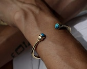 The Acorn Turquoise Cuff - made in solid bronze or solid sterling silver