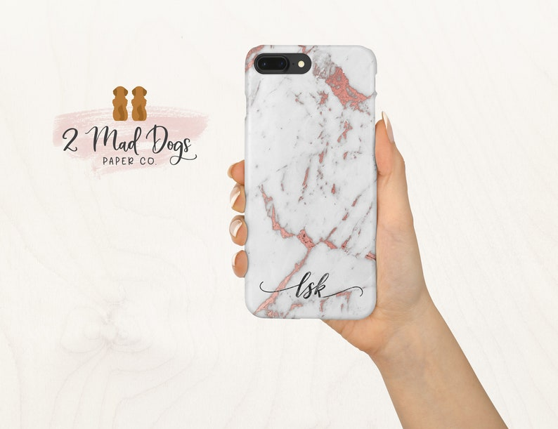 iphone 8 plus case personalised marble