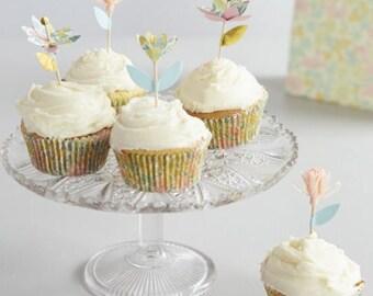 Liberty Poppy & Daisy Cupcake Kit