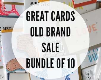Great-Cards-Old-Brand Sale Bundle of 10 Cards