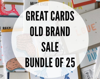 Great-Cards-Old-Brand Sale Bundle of 25 Cards and Paper Goods