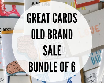 Great-Cards-Old-Brand Sale Bundle of 6 Cards