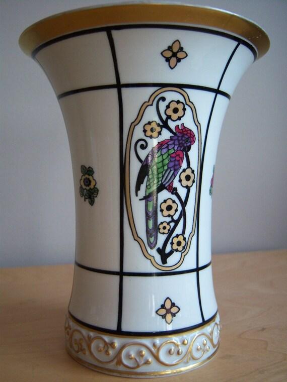 Sale  Art Nouveau Krautheim Selb Bavaria Vase  Exotic Birds motif