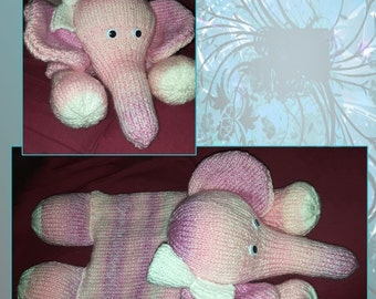 Hand Knitted Elephant Pyjama Case