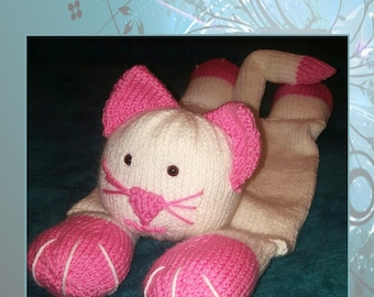 Hand Knitted Cat Pyjama Case