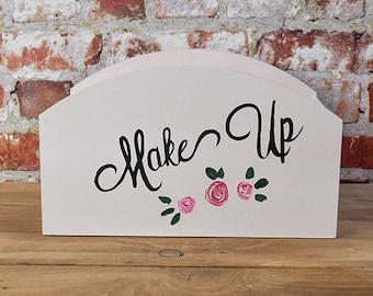 HAND PAINTED Make Up Storage Box