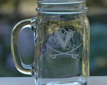 UVA 16oz Mason Drinking Jar
