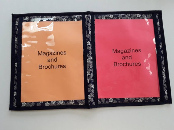 Book New Updated Tract Portfolio Brochure and Magazine Holder and Organizer