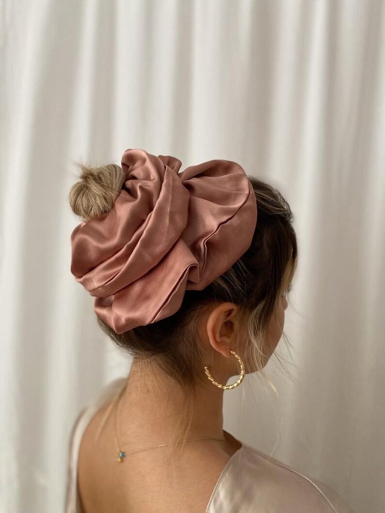 XXL Scrunchie,dried rose Scrunchie,Giant Scrunchie,Scrunchie,Hair Tie,Hair Accessory,Elastic Hair Tie,Hair accessories,women hair,accessory