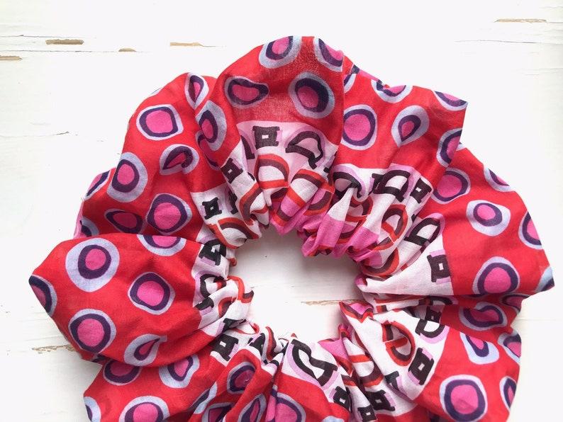 XXL Scrunchie,Giant Scrunchie,XL Scrunchie,Rose Scrunchie,pink Scrunchie,Hair Tie,Hair Accessory,Elastic Hair Tie,Hair accessories,