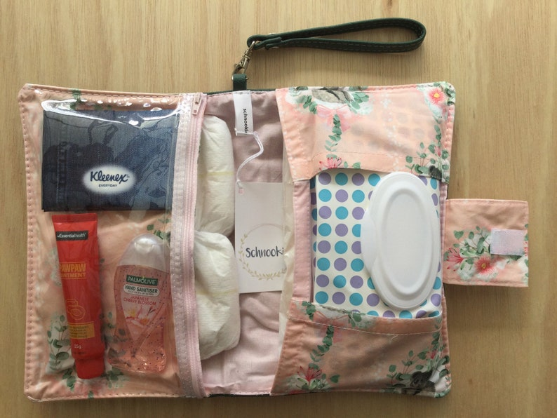 The Deluxe Nappy WalletDiaper Clutch The handmade Leather Nappy Wallet with it all!