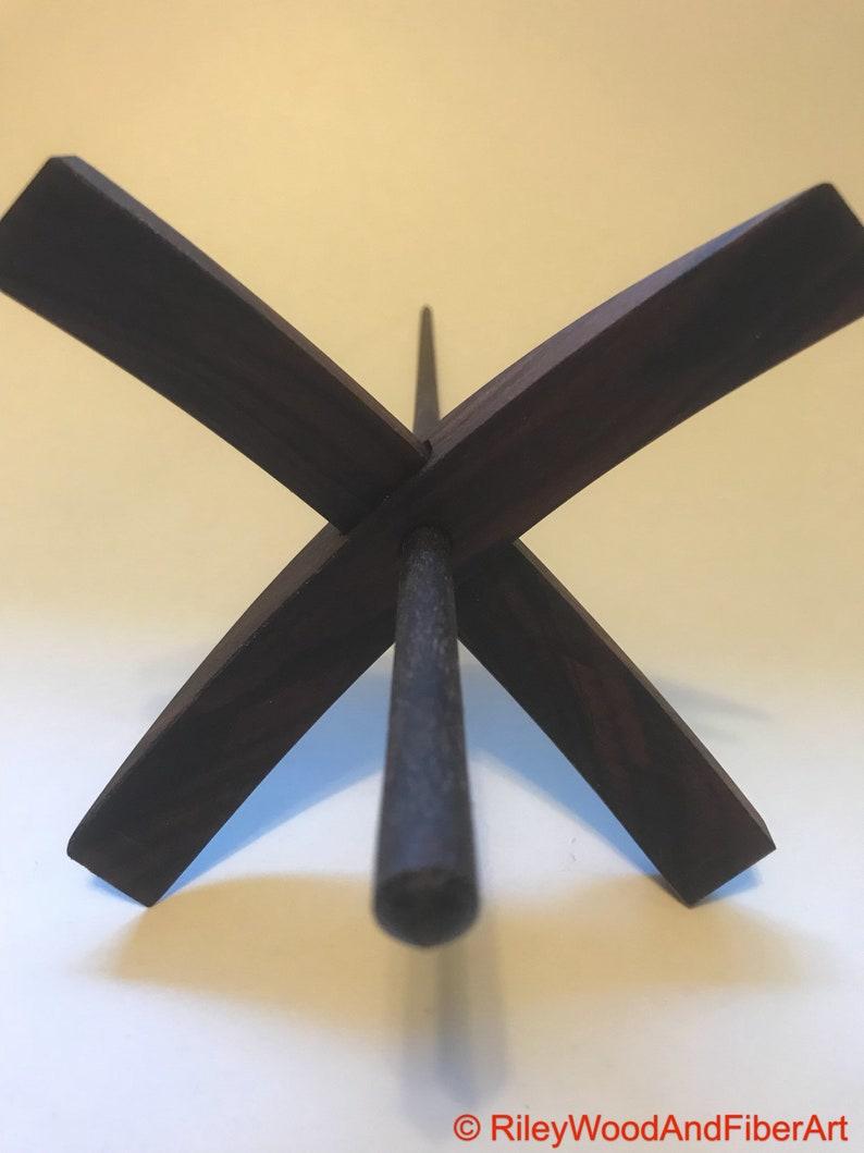 Turkish Drop Spindle Large Pau Ferro With Walnut Shaft
