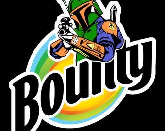 Bounty Hunter Boba Fett Bounty Inspired Funny Sticker - The Mandalorian