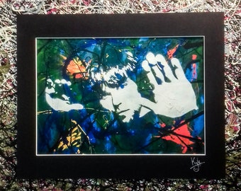 Ian Brown - The Stone Roses | Signed Art Canvas Print with Black Cardboard Mount