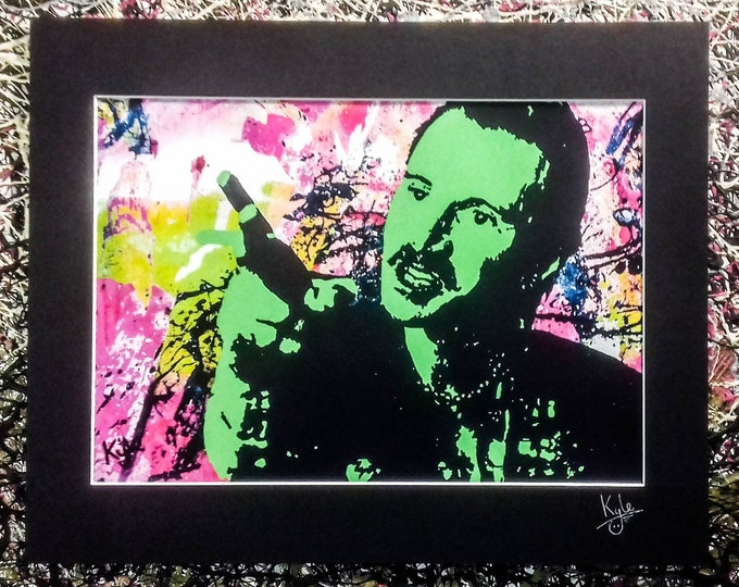 Begbie - Trainspotting | Signed Art Canvas Print with Black Cardboard Mount